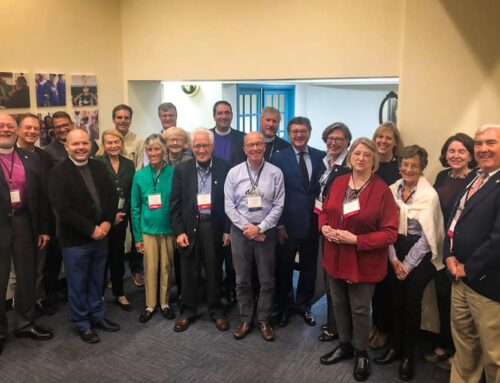 Archbisop Hosam Naoum meets with the Board of Trustees of the American Friends of the Episcopal Diocese of Jerusalem in Boston