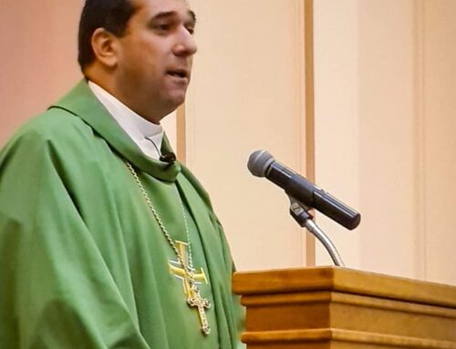 Archbisop Hosam Naoum presides over the Eucharist and preaches at St. Paul's Episcopal Cathedral in Boston